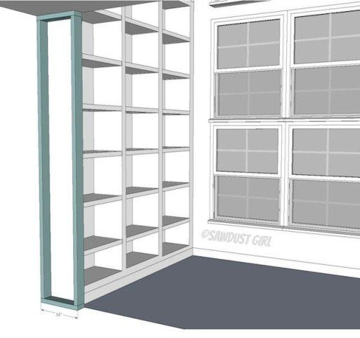 Fawn S Built In Bookshelf Plans Sawdust Girl