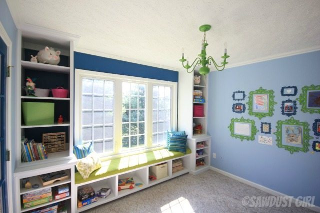 Awesome playroom. https://sawdustdiaries.com