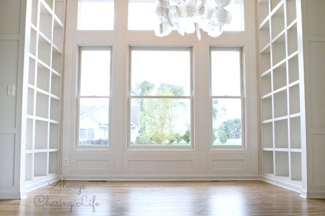 Built-in Library Bookshelves.