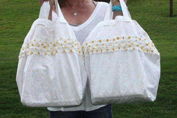 Reversible Reusable Tote Bag Sewing Tutorial | Pretty Handy Girl