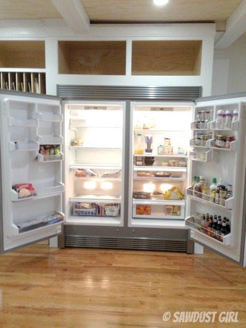 fridge and freezer space