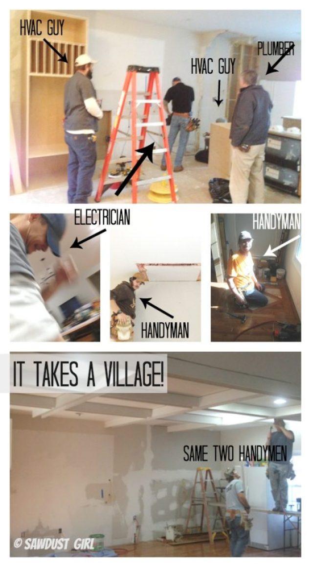 it takes a village to remodel a kitchen