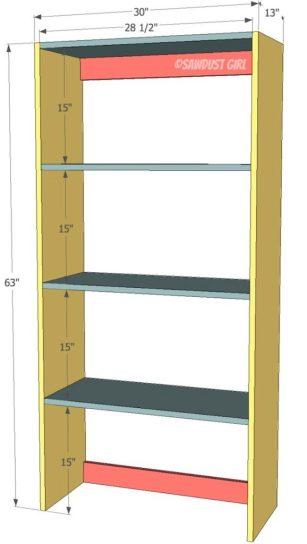 Built-in Bookshelf - Free Plans