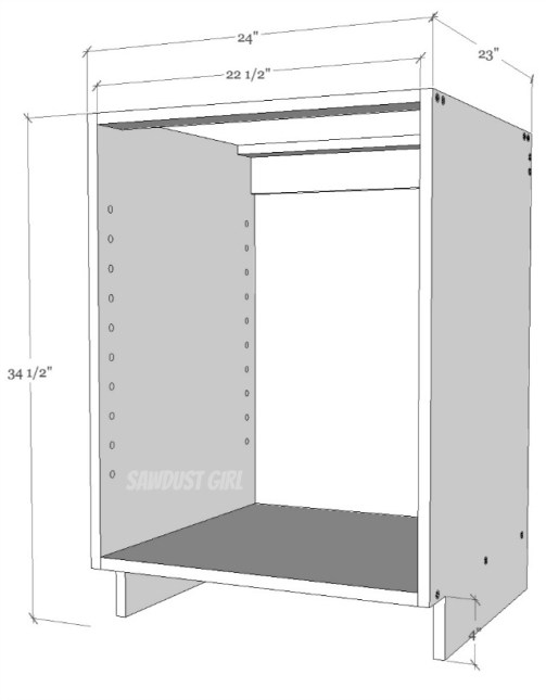 Simple cabinet builting
