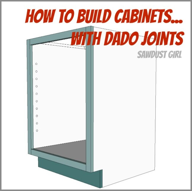 How to use dado joints to build cabinets
