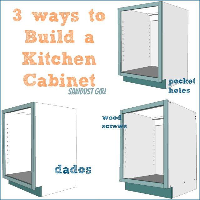 Kitchen Cabinet Blueprints: Three Ways To Build DIY Kitchen Cabinets