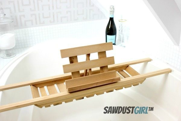 Easy DIY Bath Caddy Cedar Woodworking Project Sawdust