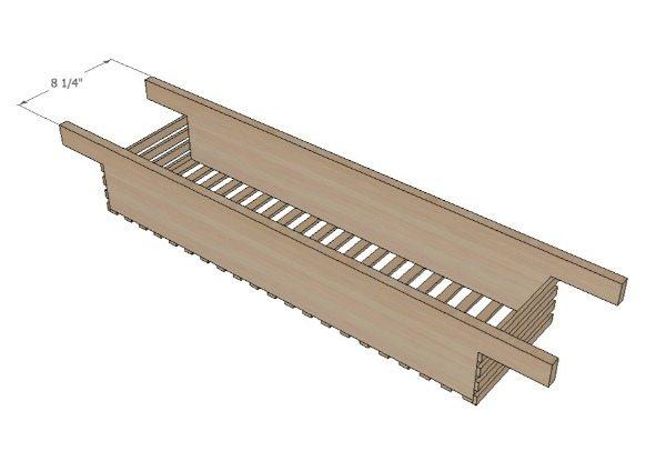 How to build a cedar bath caddy