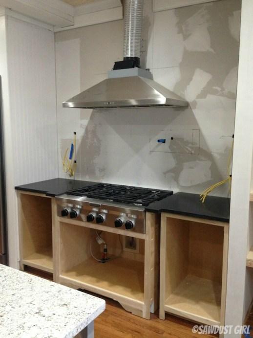Sawdust Girl -- kitchen progress
