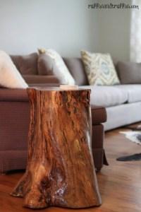Amazing tree-stump table