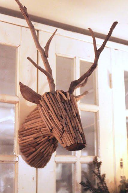 Unique wall decor - twig deer