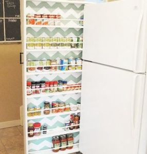 Space saving pull-out storage cabinet