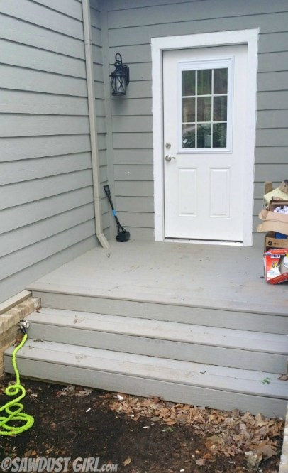 Porch clean-up and organization