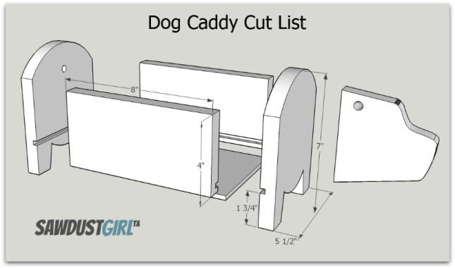 Dog Caddy Cut List