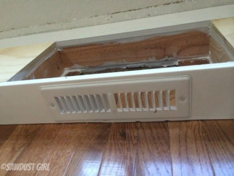 How to install a cabinet base with a floor vent