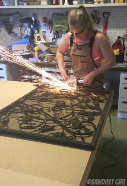 Repurposed Metal Fireplace Screen