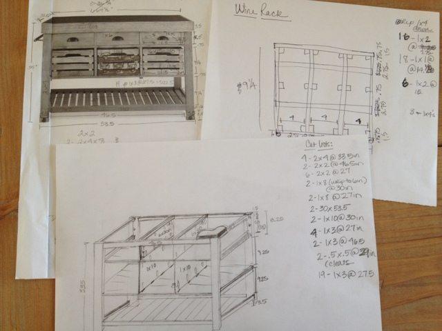DIY Kitchen Island and Storage Cart