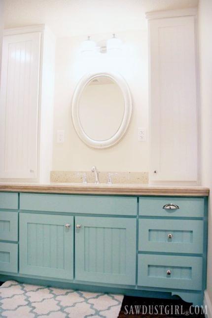 diy custom vanity cabinets