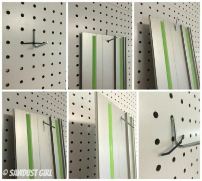 Tip for keeping pegboard hooks ON the wall.