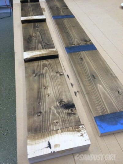 applying Briwax wood stain