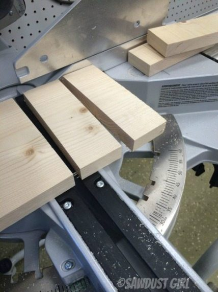 Cut Pine on the miter saw