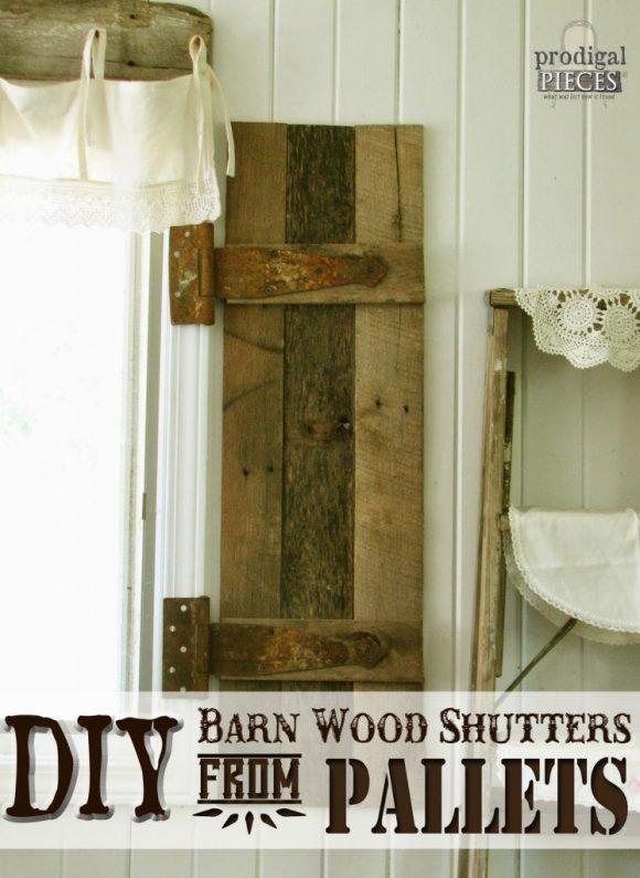 DIY Pallet Shutters