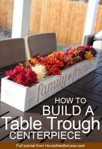 DIY Table Trough