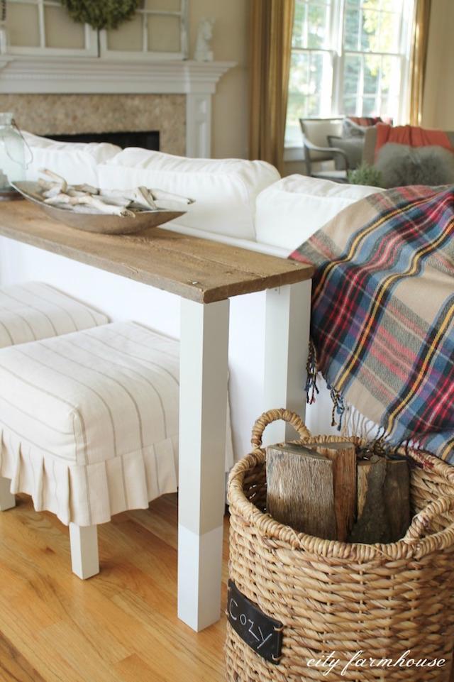 DIY Wood Sofa Table