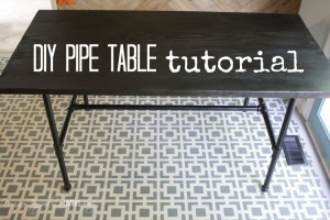 DIY Pipe Table