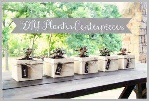 Planter Box Centerpieces