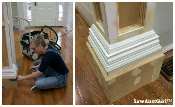 How to build decorative columns in a doorway paint prep