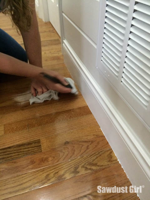 How To Get Paint Off Wood Floors Sawdust Girl