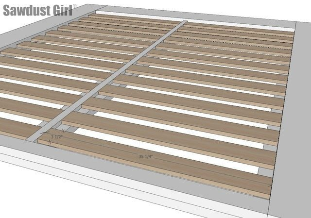 Make a DIY Platform Bed with these free woodworking plans