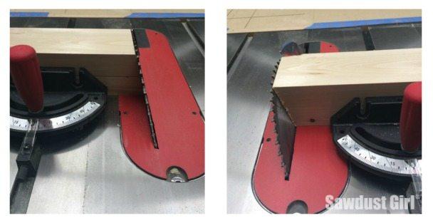 DIY wood console table trim legs