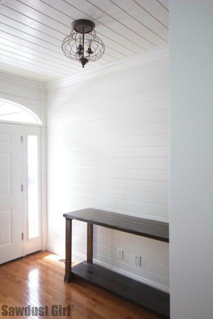 how to install a tongue and groove plank wall