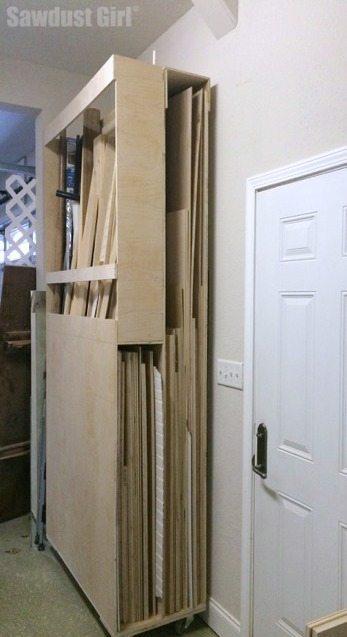 Build a lumber storage cart