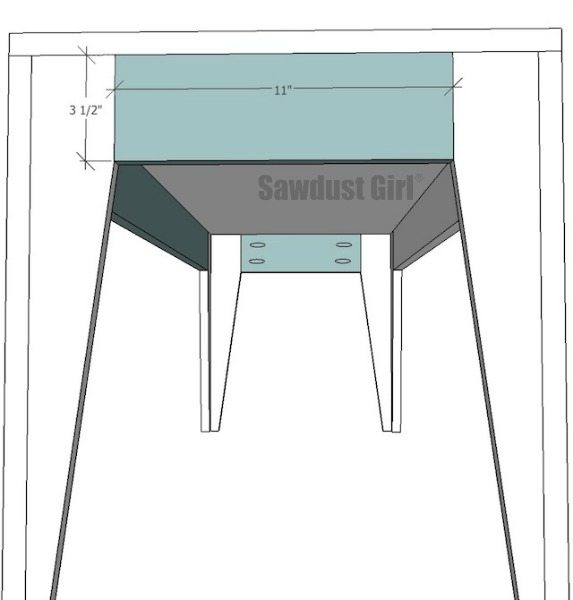 Free project plans to build an easy DIY wood bench from https://sawdustgirl.com.