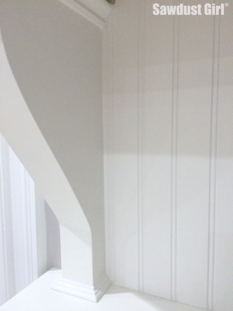 How to cut beadboard to fit around decorative moulding.