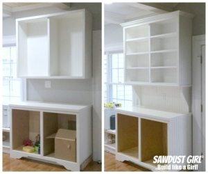 Installing crown moulding on cabinets and built-ins