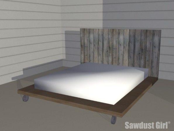 Free DIY Platform Bed Plans