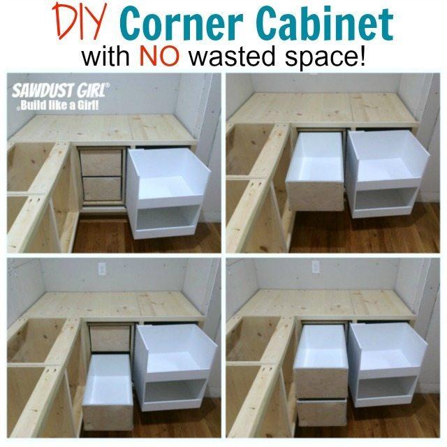 Blind Corner Kitchen Cabinet Ideas: DIY Corner Cabinet With NO Wasted Space!