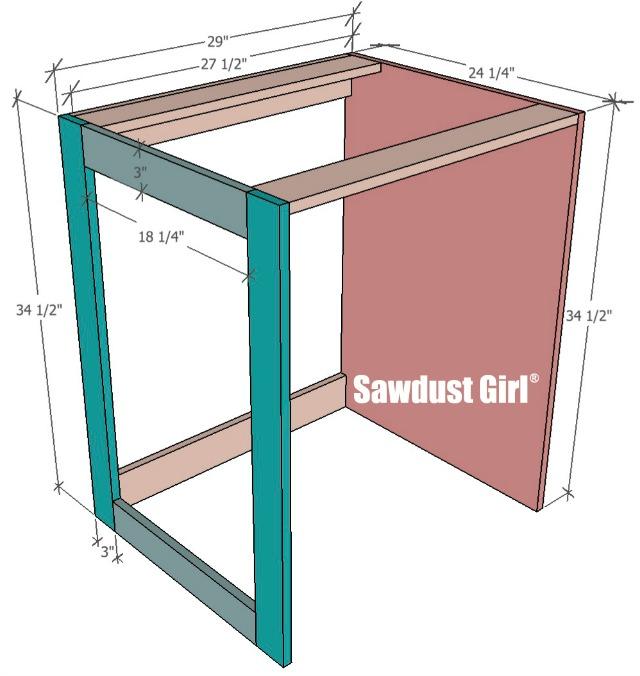 Plan for Built-in Beverage Refrigerator Cabinet