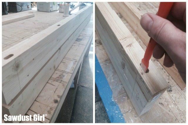 Building wood countertops with mitered corners