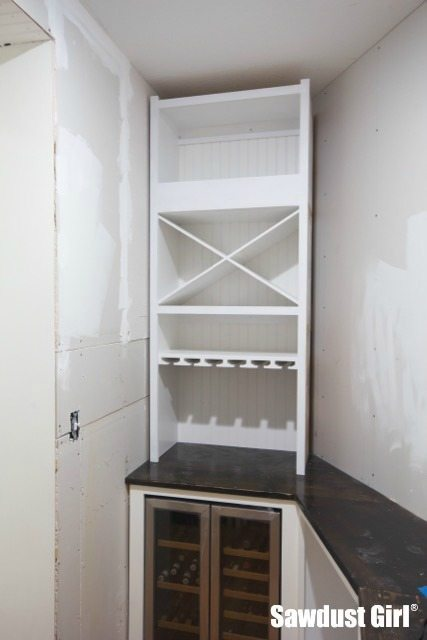 Installing a built-in wine storage cabinet