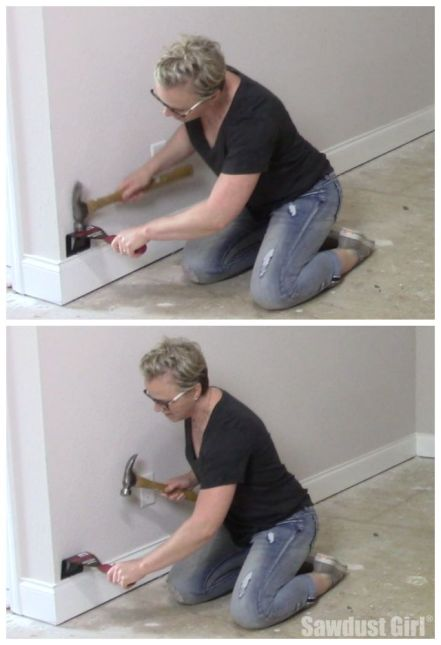 Do you have to remove baseboards to install wood flooring? I do