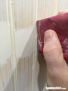 How to hide beadboard seams.
