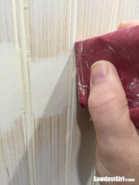 How to hide beadboard seams.