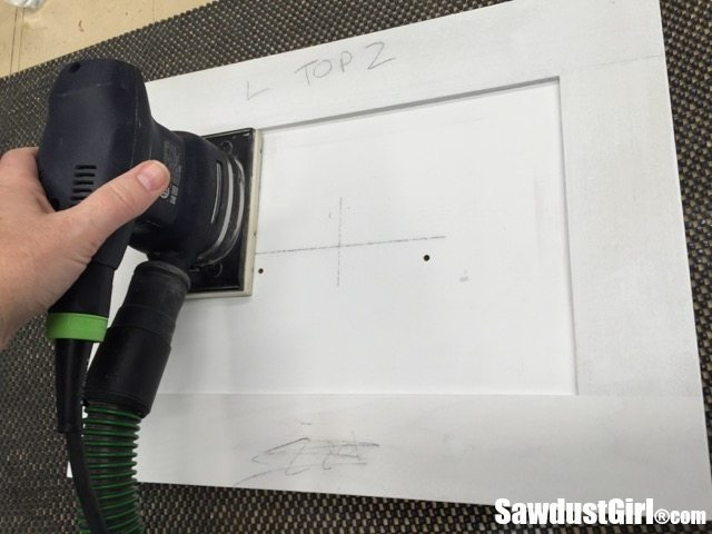 Prep and painting cabinet doors