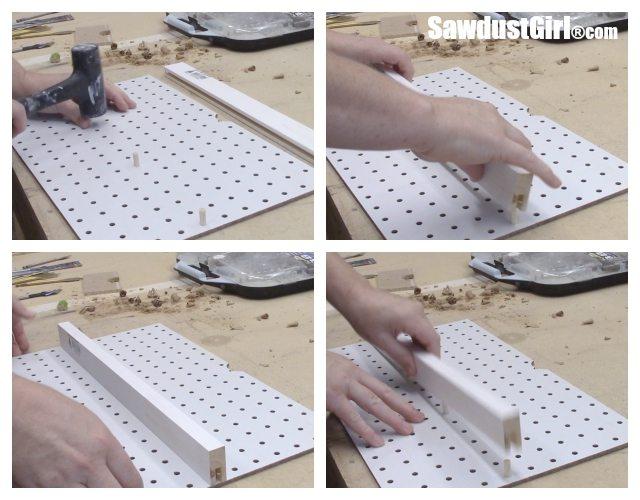 Adjustable Pegboard Drawer Organizer