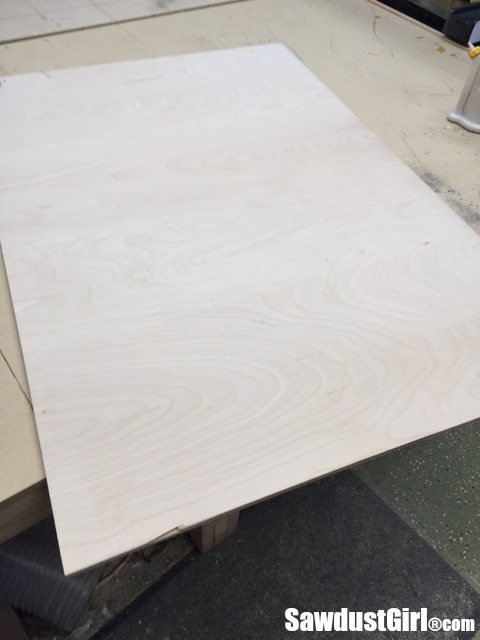 """1/4"""" plywood for base of sliding cabinet doors"""